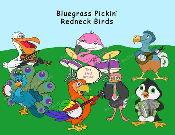 Clipart: Musical bluegrass birds