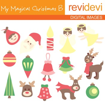Clipart My Magical Christmas B (angels, reindeers, ornaments) clip art 08027