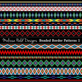 Clipart: Native American Beaded Border Patterns 1
