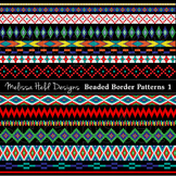Native American Beaded Border Patterns Clipart 1