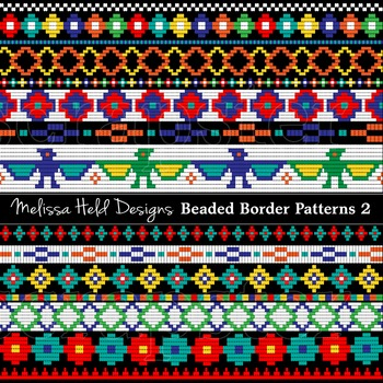 Clipart: Native American Beaded Border Patterns 2