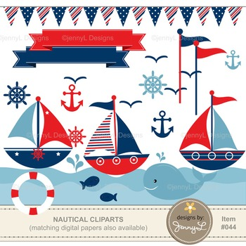 Nautical Sailing Clipart