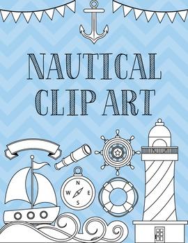 Clip Art: Nautical Set Black Line Art