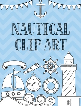 Clip Art: Nautical Set Black Line Art