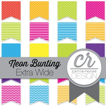 Clipart - Neon Buntings