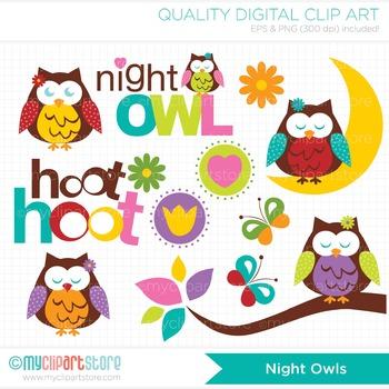 Clipart - Night Owls