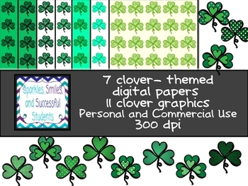 Clipart: Not Your Average Clover Pack