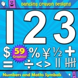 Clipart: Numbers and Maths Symbols Clip Art for Teachers