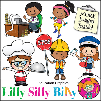 Clipart Occupations {Lilly Silly Billy}