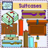Suitcases (Old style) clipart