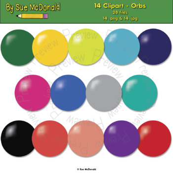Clipart - Orbs - 14 High Quality Vector Graphics