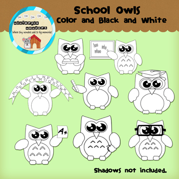 Clipart: Owls
