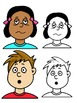 Clip Art PNGs - Children - Boy and Girl - faces feelings and emotions.