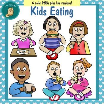 Clip Art PNGs - Kids Eating