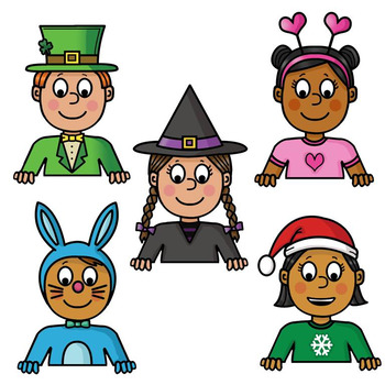 Clip Art PNGs - Kids Text Toppers