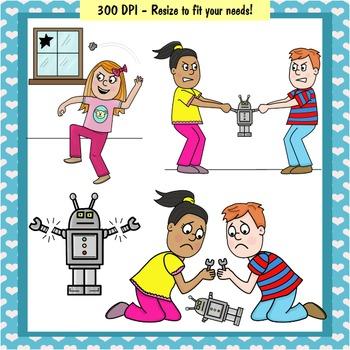 Clip Art PNGs - Kids Behaving Badly