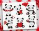 Clipart - Panda Love / Valentine's Day Panda Bears