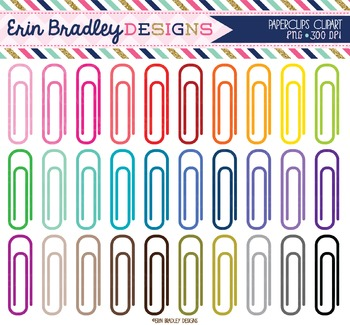 Clipart - Paperclips