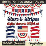 Stars and Stripes Patriotic Clipart Mega Set