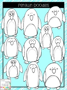 Clipart - Penguin Doodles