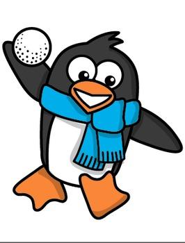 Clipart: Penguin Snow Friends