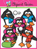 Clipart: Penguin Snow Friends