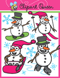 Clipart: Winter Sports Snowman