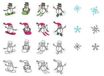 Clipart: Winter Sports Snowman