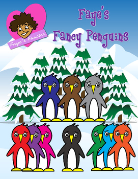 Free Clipart Penguins Colorful