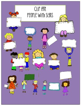 Clipart-People With Signs