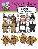 Clipart: Thanksgiving Pilgrim Kids