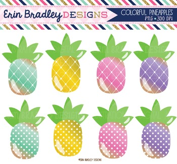 Clipart - Pineapples