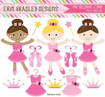 Clipart - Pink Ballerinas