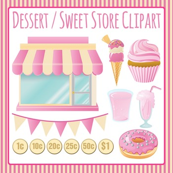 Stores - Dessert Store Clip Art Set for Commercial Use