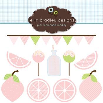 Clipart - Pink Lemonade Graphics