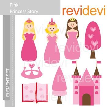 Princess clip art in pink