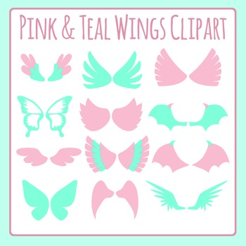 Wings Clip Art Pack for Commercial Use