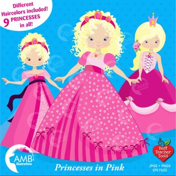 Princess Clipart, Fairy Princess {Best Teacher Tools} AMB-993