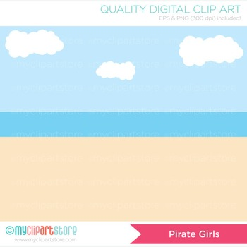 Clipart - Pirate Girls