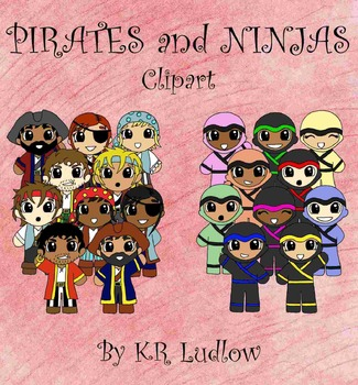 Clipart - Pirates and Ninjas