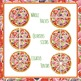 Pizza Fractions - whole, halves, quarters, sixths, eighths