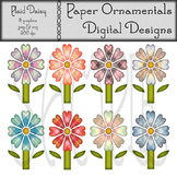 Clip Art or Clip art:  Plaid Daisy Set