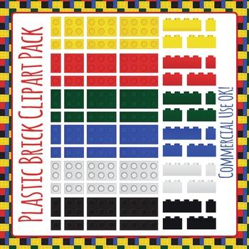 Lego Like Plastic Bricks (Similar to Lego or Lego Like) Clip Art Pack