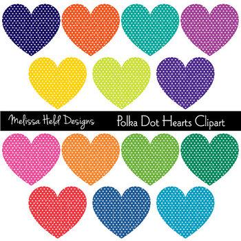 SPECIAL OFFER! Clipart: Polka Dot Hearts Clip Art
