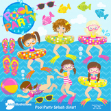Pool Party Clipart MEGA PACK! Party Clipart {Best Teacher Tools} AMB-903
