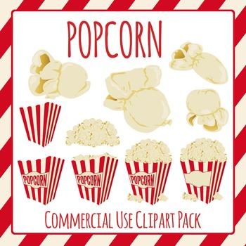 Popcorn Clip Art Pack for Commercial Use