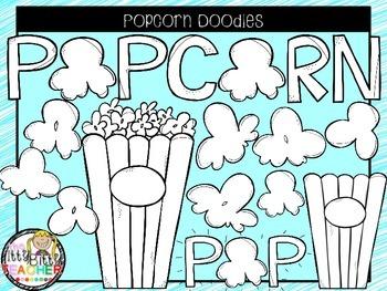 Clipart - Popcorn Doodles