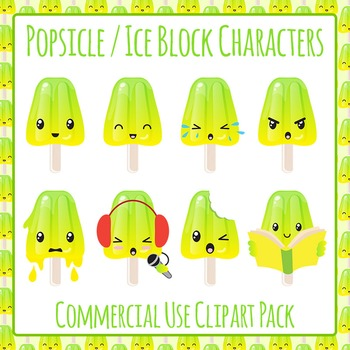 Popsicles / Ice blocks / Ice Lolly Characters - Commercial Use Clip Art