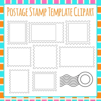 Postage Stamp Template Clip Art Pack for Commercial Use