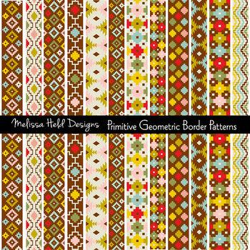 Clipart: Primitive Border Patterns Clip Art